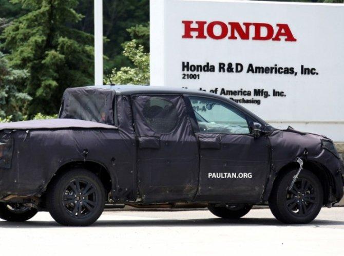 Honda Ridgeline 2017 шпионские фото 2.jpg