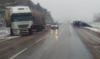 При столкновении Audi и грузовика под Димитровградом погиб человек