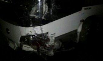 В ДТП с автобусом на трассе Иркутск-Братск погибли два человека