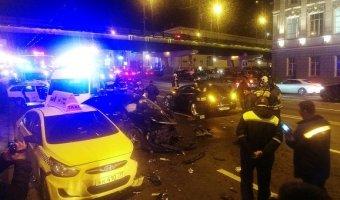 В Москве на Крымском мосту произошла авария из пяти машин
