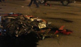На Васильевском острове в ДТП пострадал мотоциклист