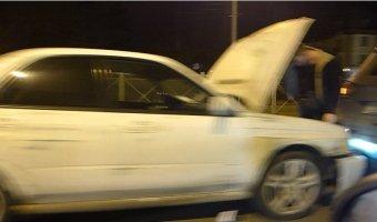 Массовая авария на Выборгском шоссе с участием торопливого Subaru