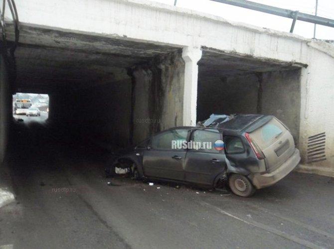 Водитель погиб, врезавшись в опору моста в Домодедовском районе (2).jpg