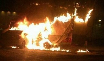 Пьяная автоледи из Красноярска сожгла две машины