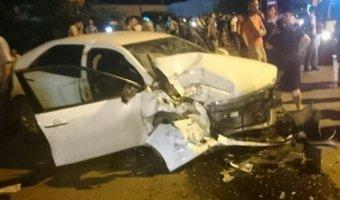 В Махачкале иномарка протаранила «скорую помощь»