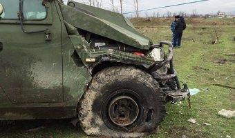 Три человека погибли в Дагестане при столкновении бронемашины и маршрутки