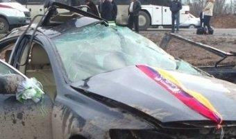 На трассе М4 «Дон» Lexus из свадебного кортежа попал в смертельное ДТП
