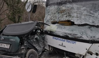 В ДТП с автобусом на Кубани один человек погиб и семь пострадали