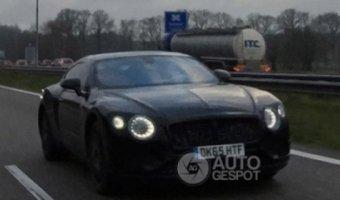 Bentley Continental GT 2017 в серийном кузове замечен на тестах в Нидерландах