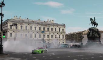 Гонщик опубликовал ролик с кадрами профессионального дрифта в самом центре Санкт-Петербурга