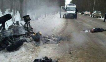 Под Москвой при опрокидывании квадроцикла погиб человек