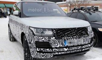 Обновленный Range Rover проходит зимние тесты