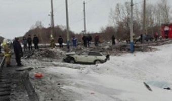 В Башкирии при столкновении поезда с ВАЗом погиб человек