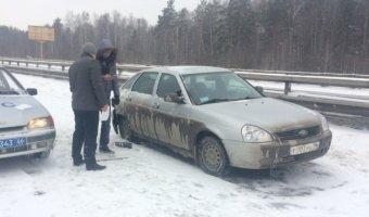 На Серовском тракте произошло несколько ДТП на одном участке дороги