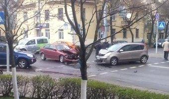 ДТП с пострадавшими в Минске на Куйбышева