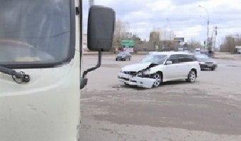 В Улан-Удэ по вине водителя маршрутки случилось ДТП