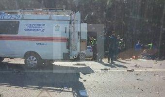 В Подмосковье в лобовом ДТП погибли два человека
