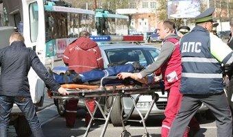 В центре Минска мотоциклист спровоцировал ДТП с участием инспектора ГАИ