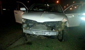 В Минске водитель разбил Linсoln, пытаясь поднять упавшую сигарету