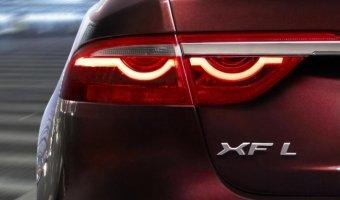 Jaguar показали первый тизер удлиненного седана XF L