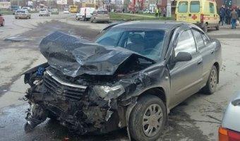 В Ижевске в ДТП пострадали четыре человека, включая двух детей
