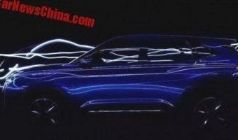 JAC выложили тизер концепт-кара SC5 перед показом в Пекине