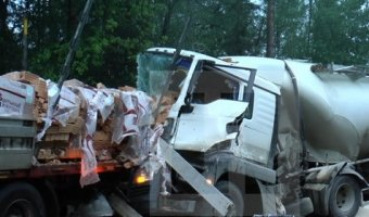 Под Калугой в ДТП с грузовиками погибли три человека