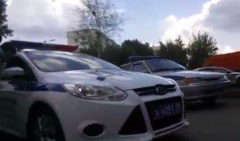В новой Москве полицейский автомобиль сбил ребенка на велосипеде