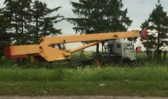 В ДТП с краном в Ленобласти погибли два человека