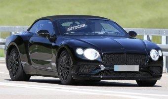 Bentley тестируют новый кабриолет Continental GT