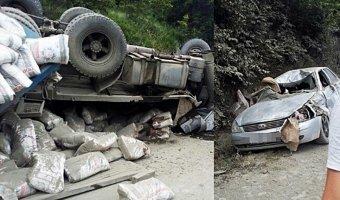 Под Новороссийском в тройном ДТП погиб водитель КАМАЗа