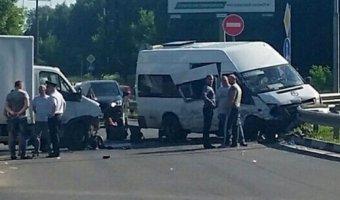 В ДТП в Подмосковье пострадали 11 человек