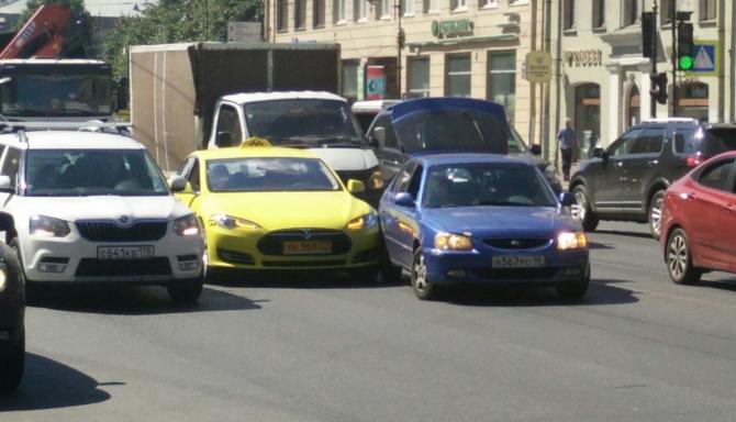 """ДТП 02.07)2016 Tesla от """"Яндекс.Такси"""""""
