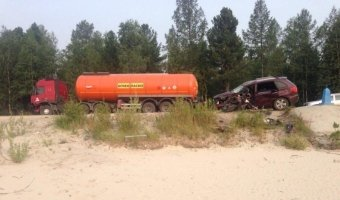 В Новом Уренгое в ДТП с бензовозом погиб человек