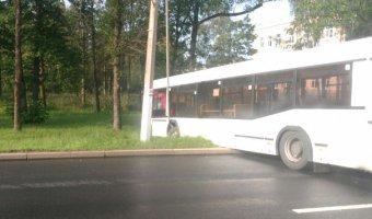 В Петергофе столкнулись два автобуса