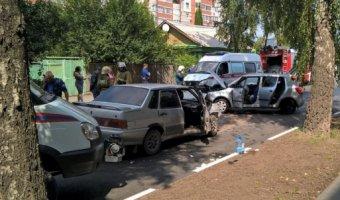 В ДТП на улице Ленинского комсомола в Рязани пострадали пять человек