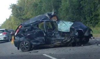 В Калужской области в ДТП с микроавтобусом погибли два человека