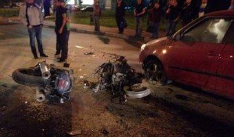 На кузбасской трассе в ДТП погибла девушка на мотоцикле