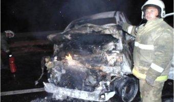 В Ковровском районе в ДТП водитель сгорел в своей машине