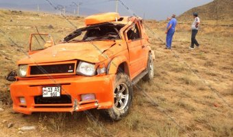 В Армении в пропасть упал автомобиль - погибли два пограничника