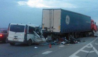 В ДТП в Николаевском районе Украины погибли восемь человек