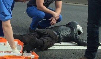 В Петербурге в массовом ДТП пострадали мотоциклист и его пассажирка