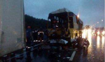 Под Ростовом в ДТП с автобусом и фурами серьезно ранены шесть человек