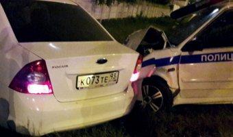 В ДТП с полицейской машиной на Кубани погиб человек