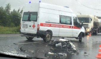 В ДТП на Стойкости в Петербурге пострадал мотоциклист
