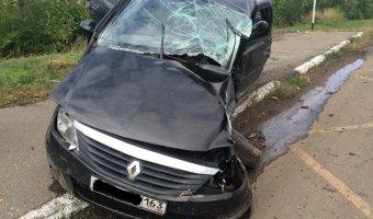 В Волжском районе в ДТП погиб водитель Renault без прав