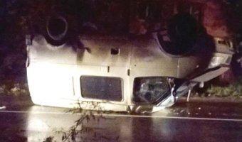 В Иванове два пьяных инкассатора перевернулись в служебной машине