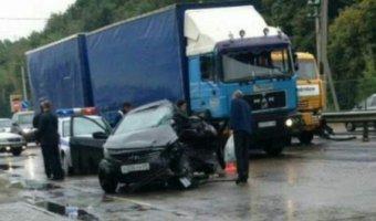 В ДТП с КамаАЗом в Строителе погибла женщина-водитель