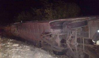 В ДТП на Ставрополье перевернулся рейсовый автобус