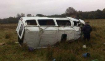 В ДТП с микроавтобусом в Карачаево-Черкесии пострадали 12 человек